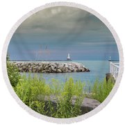 The View Round Beach Towel by James Meyer