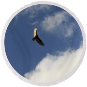Round Beach Towel featuring the photograph The View  by Kim Henderson