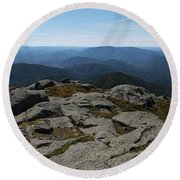 The View North From Mt. Marcy Round Beach Towel