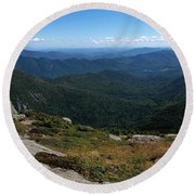 The View South From Mt. Marcy Round Beach Towel