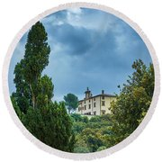 The Views From The Boboli Gardens Round Beach Towel