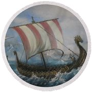 The Vikings Round Beach Towel
