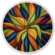 The Vine Round Beach Towel