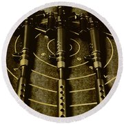 The Vintage Sniper Rifle Range Round Beach Towel