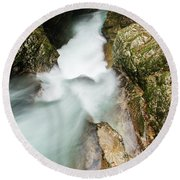 The Vintgar Gorge, Gorje, Near Bled, Slovenia Round Beach Towel