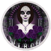 The Virgin Virgo Spirit Round Beach Towel