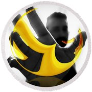 The Virtual Reality Banana Round Beach Towel