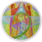 The Visitation Round Beach Towel