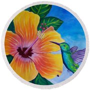 The Visitor Round Beach Towel