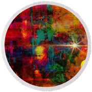 The Visitors Round Beach Towel