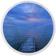 The Walk Of Faith Round Beach Towel