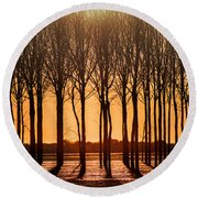 The Walnut Grove Round Beach Towel