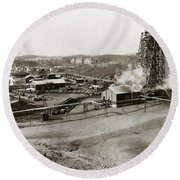 The Wanamie Colliery Lehigh And Wilkes Barre Coal Co Wanamie Pa Early 1900s Round Beach Towel