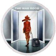 The War Room Round Beach Towel