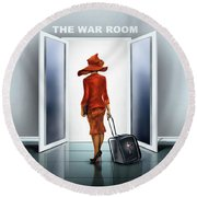 The War Room Round Beach Towel