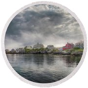 The Warf Round Beach Towel by Tom Cameron