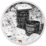 The Water Barrel Round Beach Towel