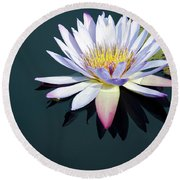 The Water Lily Round Beach Towel