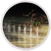 The Water Maestro  Round Beach Towel