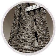 The Water Tower At Mount Constitution Round Beach Towel
