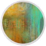 The Waterfall Round Beach Towel by Jessica Wright