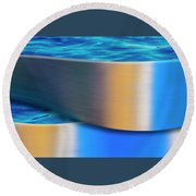 Round Beach Towel featuring the photograph The Waters Edge by Paul Wear