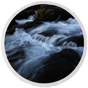 The Waters Of Kirkjufell Round Beach Towel