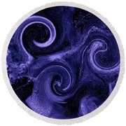 The Wave Of Truth Purple Round Beach Towel