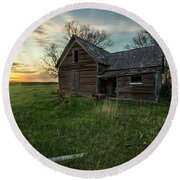 Round Beach Towel featuring the photograph The Way She Goes by Aaron J Groen