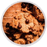 The Way The Cookie Crumbles Round Beach Towel