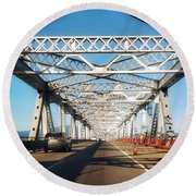 The Way To New Orleans Round Beach Towel