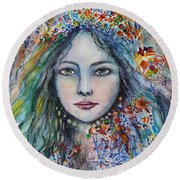 Wealth Of Winter Round Beach Towel by Rita Fetisov