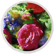 The Wedding Bouquet Round Beach Towel by Andrea Kollo