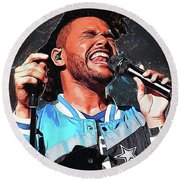 The Weeknd Round Beach Towel by Semih Yurdabak