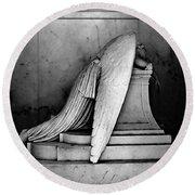 The Weeping Angel Round Beach Towel