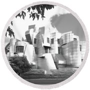 The Weisman Art Museum Round Beach Towel by Steve Lucas