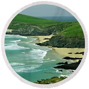 The West Coast Of Ireland Round Beach Towel by Patricia Griffin Brett