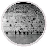 The Western Wall, Jerusalem 2 Round Beach Towel