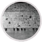 The Western Wall, Jerusalem 2 Round Beach Towel