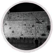 The Western Wall, Jerusalem Round Beach Towel