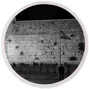The Western Wall, Jerusalem Round Beach Towel