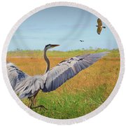 The Wetlands Dance Round Beach Towel by Judy Kay
