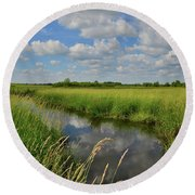 The Wetlands Of Hackmatack National Wildlife Refuge Round Beach Towel