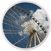 The Wheel And Sky Round Beach Towel