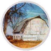 The White Barn Round Beach Towel