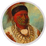 The White Cloud, Head Chief Of The Iowas Round Beach Towel