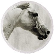 The White Horse IIi - Art Print Round Beach Towel