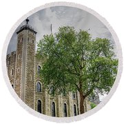The White Tower Round Beach Towel