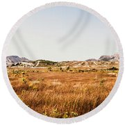 The Wide West Round Beach Towel