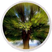 Round Beach Towel featuring the photograph The Wind by Elfriede Fulda
